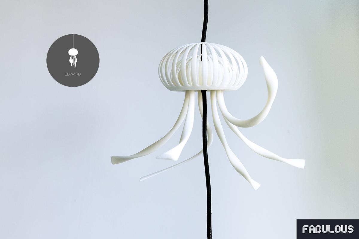 veilleuse impression 3d edward la m duse. Black Bedroom Furniture Sets. Home Design Ideas