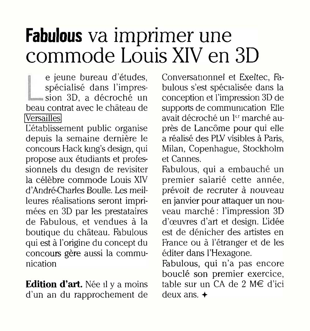 Fabulous dans Intermedia