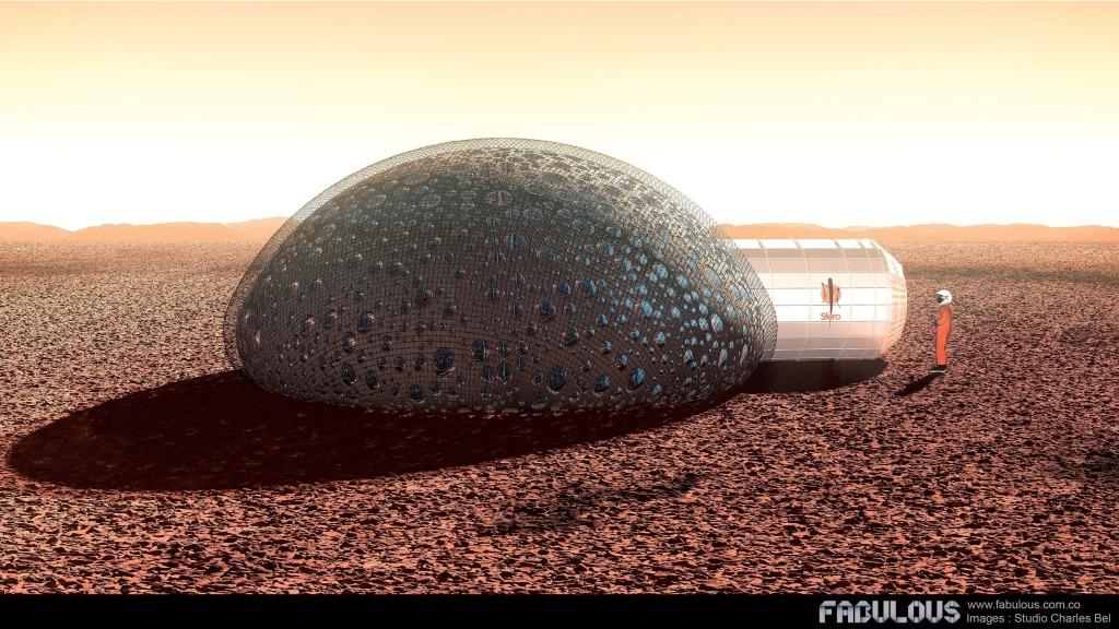 Vivre sur Mars dans un habitat imprimé en 3d : le projet français Sfero