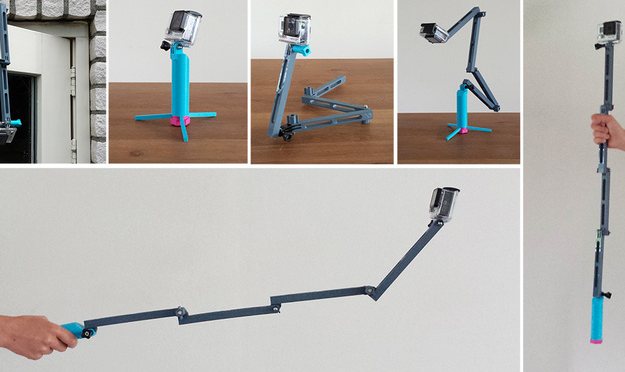 GoPro counter balance folding stick
