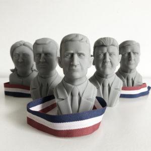 Présidentielles - impression 3D - Cults - Fabulous - France
