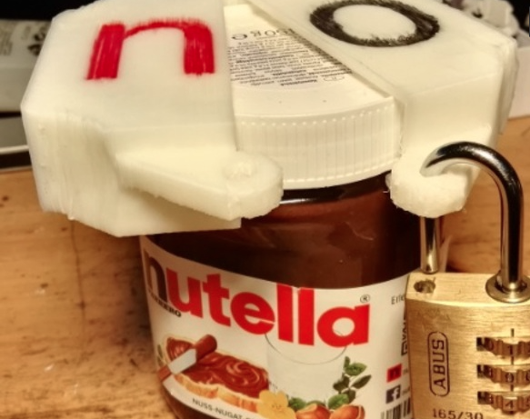 Nutella cap lock - Thingiverse - Impression 3D